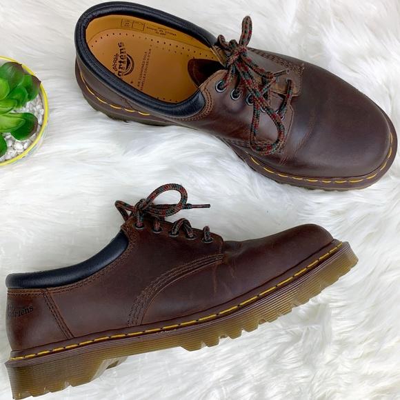 best supplier outlet boutique temperament shoes Dr. Marten 8053 Crazy Horse 5 eye Padded Collar